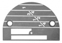 Industrial Hemming Needle Plate # 26605